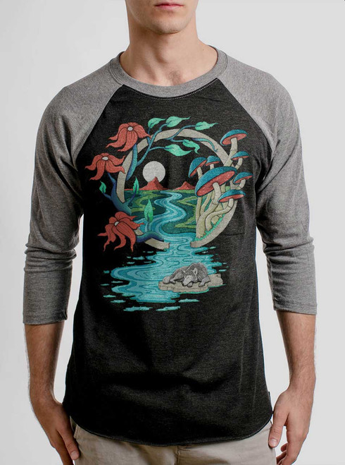 Spirit Guide - Multicolor on Heather Black and Grey Triblend Raglan
