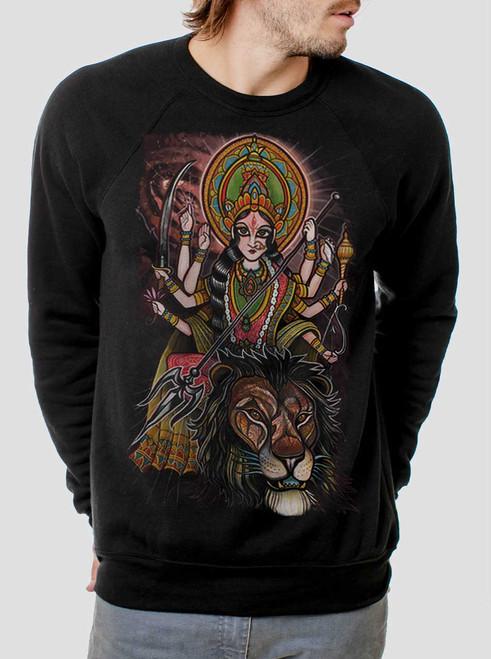 Durga - Multicolor on Black Men's Sweatshirt