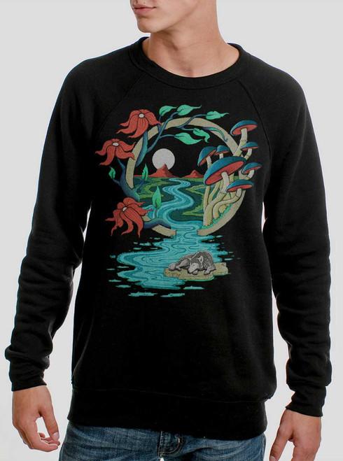 Spirit Guid - Multicolor on Black Men's Sweatshirt