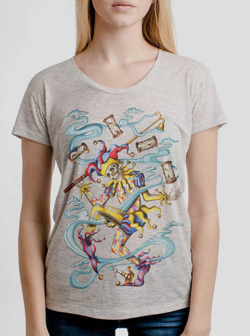 Juggler - Multicolor on Heather Oatmeal Women's Relaxed Fit T Shirt