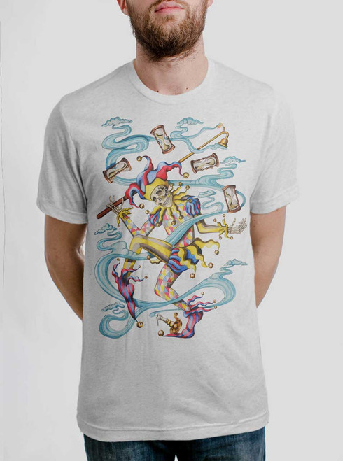 Juggler - Multicolor on Heather White Triblend Mens T Shirt
