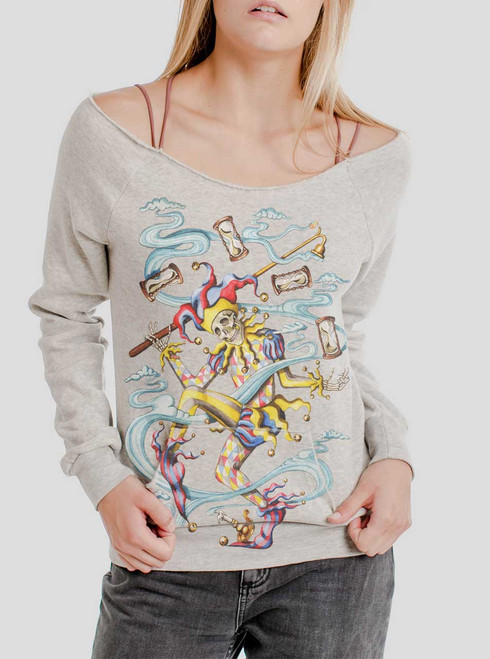 Juggler - Multicolor on Oatmeal Triblend Women's Maniac Sweatshirt