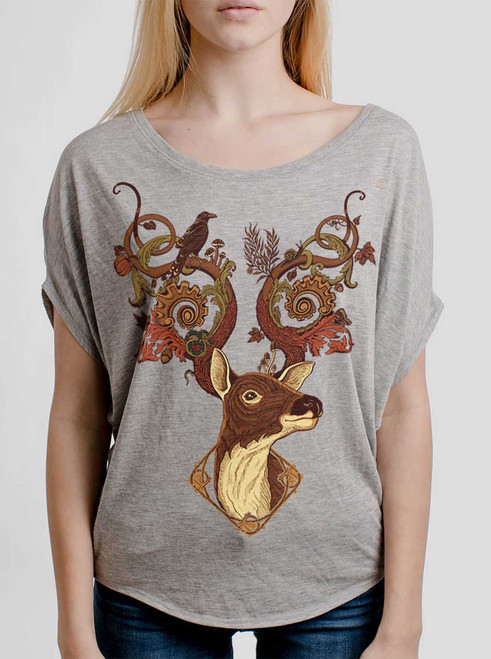 Antlers - Multicolor on Athletic Heather Women's Circle Top