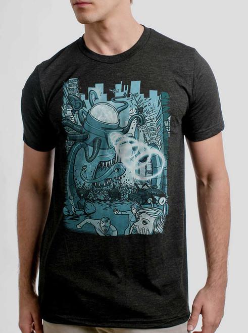Invasion - Multicolor on Heather Black Triblend Mens T Shirt