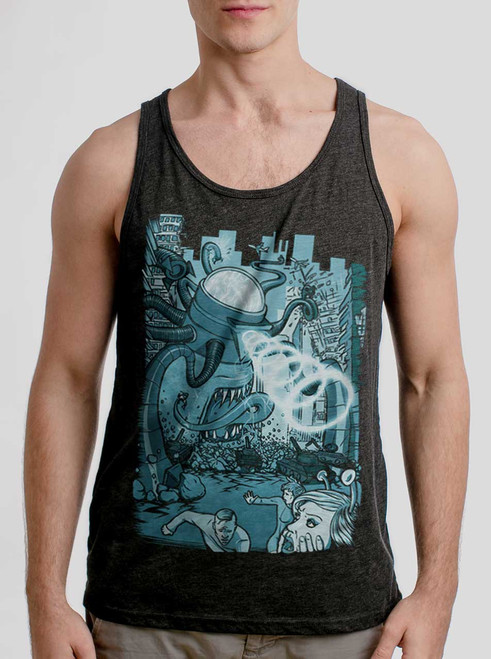 6d12aa46b3a037 Invasion - Multicolor on Heather Black Triblend Mens Tank Top