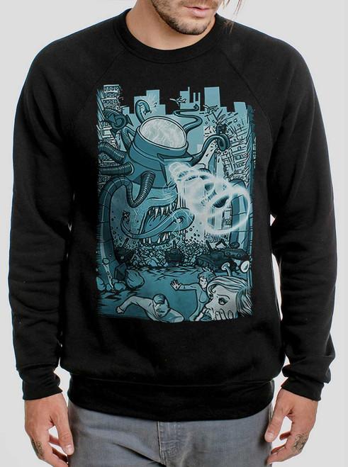 Invasion - Multicolor on Black Men's Sweatshirt
