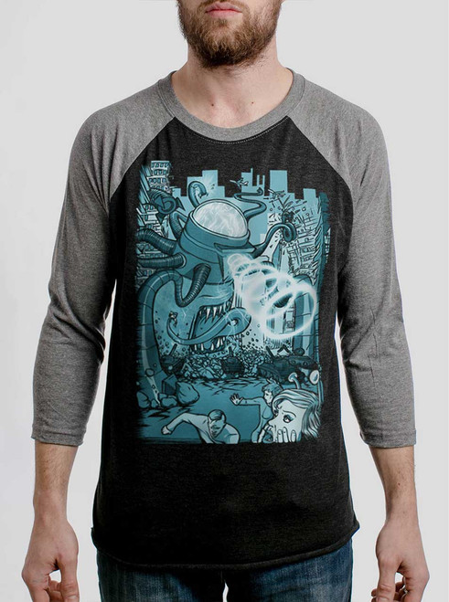 Invasion - Multicolor on Heather Black and Grey Triblend Raglan