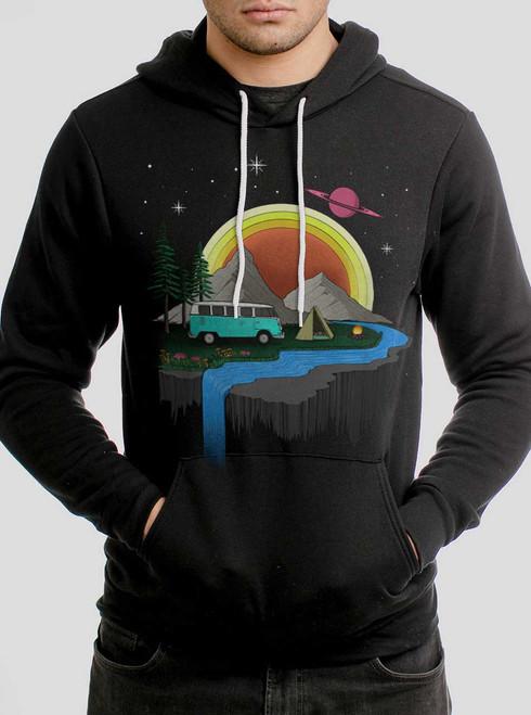Camping - Multicolor on Black Men's Pullover Hoodie