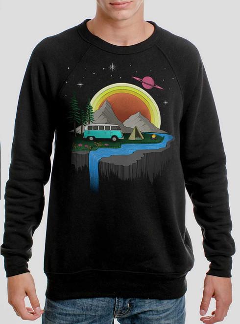 Camping - Multicolor on Black Men's Sweatshirt