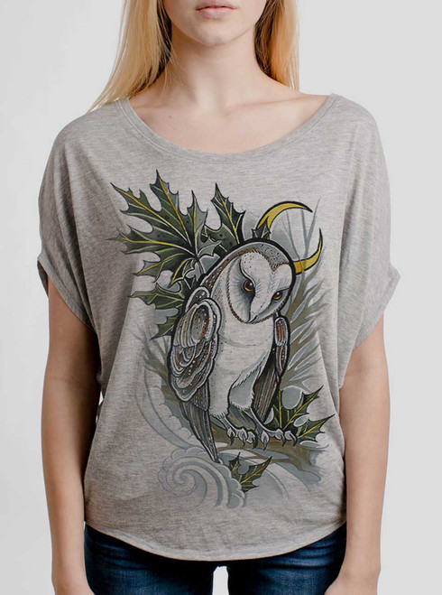 Barn Owl - Multicolor on Athletic Heather Women's Circle Top