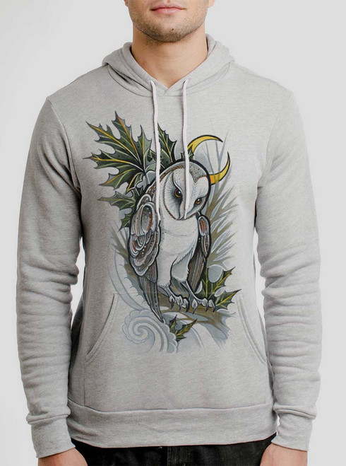 Barn Owl - Multicolor on Athletic Heather Men's Pullover Hoodie