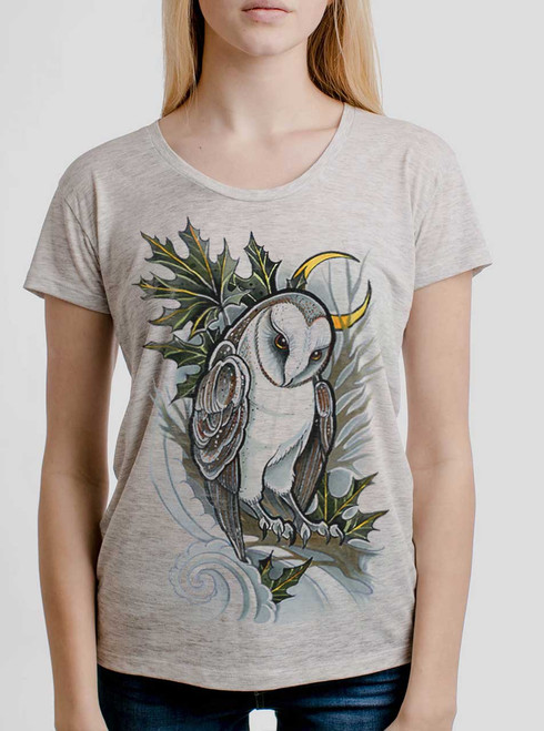 Barn Owl - Multicolor on Heather Oatmeal Women's Relaxed Fit T Shirt
