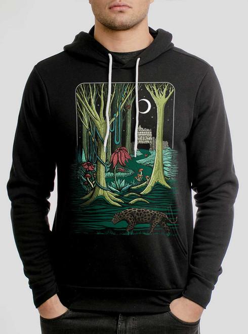 Jungle - Multicolor on Black Men's Pullover Hoodie