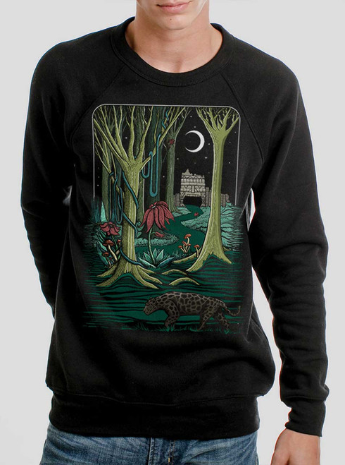 Jungle - Multicolor on Black Men's Sweatshirt