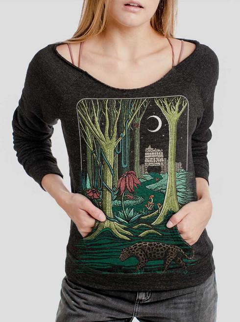 Jungle - Multicolor on Charcoal Triblend Women's Maniac Sweatshirt