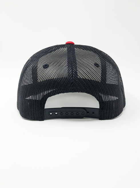 d5b3b1c0 Little Owl - White with Red and Black Snapback Hat - Curbside Clothing