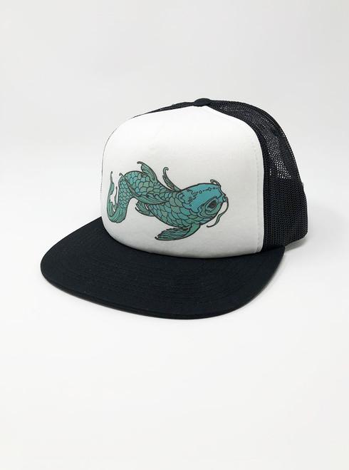 Koi - White with Black Snapback Hat