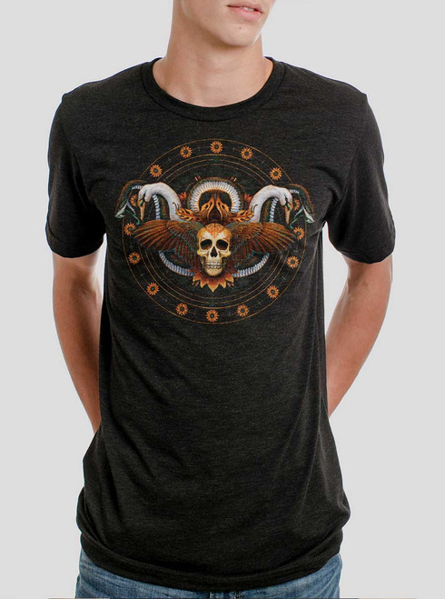 Serendipity - Multicolor on Heather Black Triblend Mens T Shirt