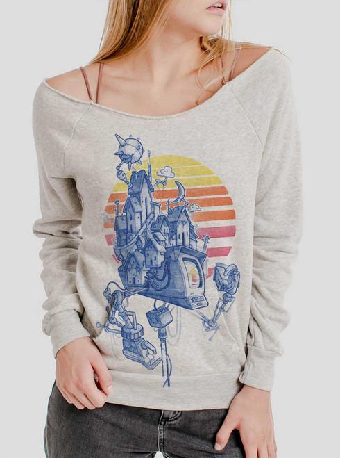 Home - Multicolor on Oatmeal Triblend Women's Maniac Sweatshirt
