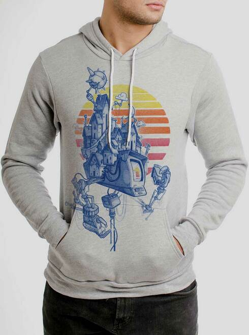 Home - Multicolor on Athletic Heather Men's Pullover Hoodie