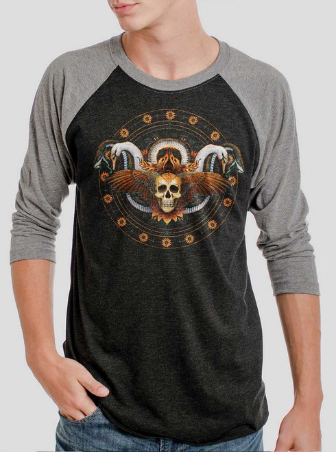 Serendipity - Multicolor on Heather Black and Grey Triblend Raglan