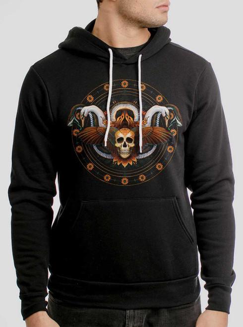 Serendipity - Multicolor on Black Men's Pullover Hoodie