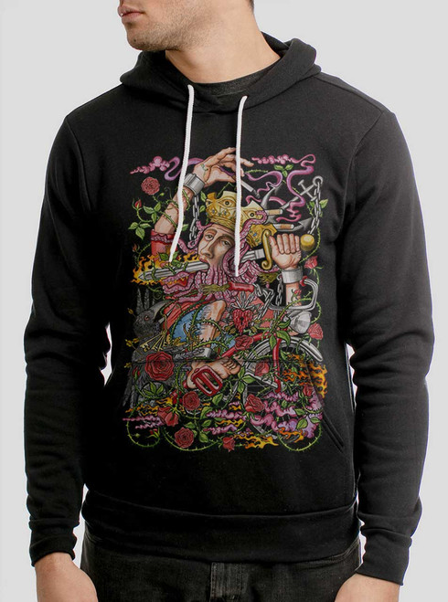 Suicide King - Multicolor on Black Men's Pullover Hoodie