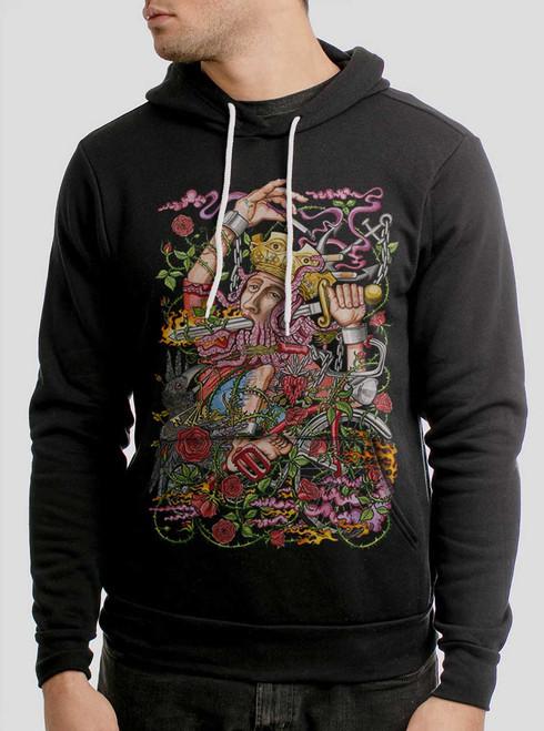 Suicide King - Multicolor on Black Men's Pullover Hoodie