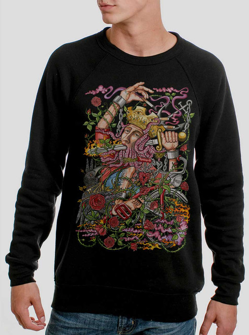 Suicide King - Multicolor on Black Men's Sweatshirt