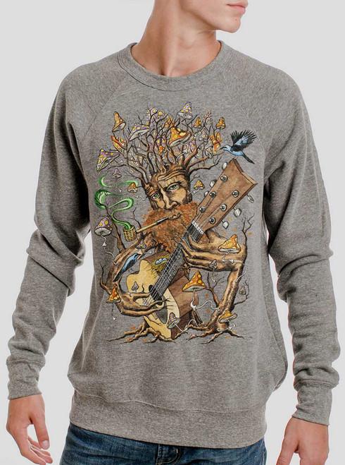 Forest Jam - Multicolor on Heather Grey Triblend Men's Sweatshirt