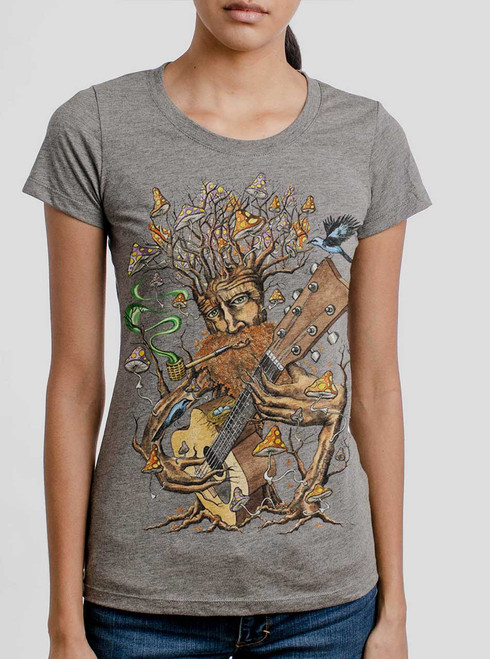 Forest Jam - Multicolor on Heather Grey Triblend Womens T-Shirt