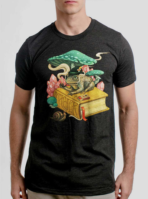 Magick - Multicolor on Heather Black Triblend Mens T Shirt