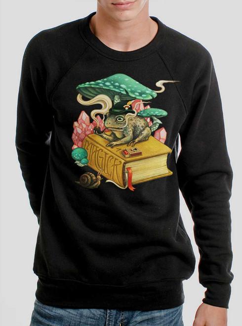 Magick - Multicolor on Black Men's Sweatshirt