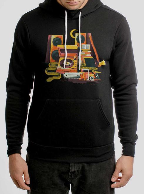 Death Metal - Multicolor on Black Men's Pullover Hoodie