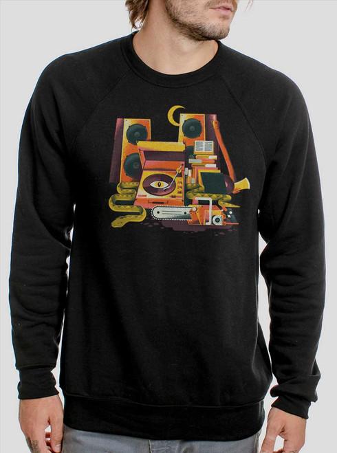 Death Metal - Multicolor on Black Men's Sweatshirt