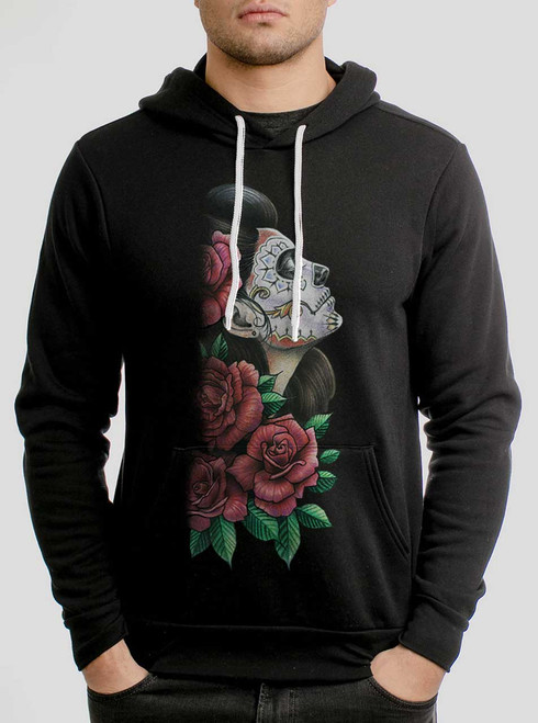 Lady of the Dead - Multicolor on Black Men's Pullover Hoodie