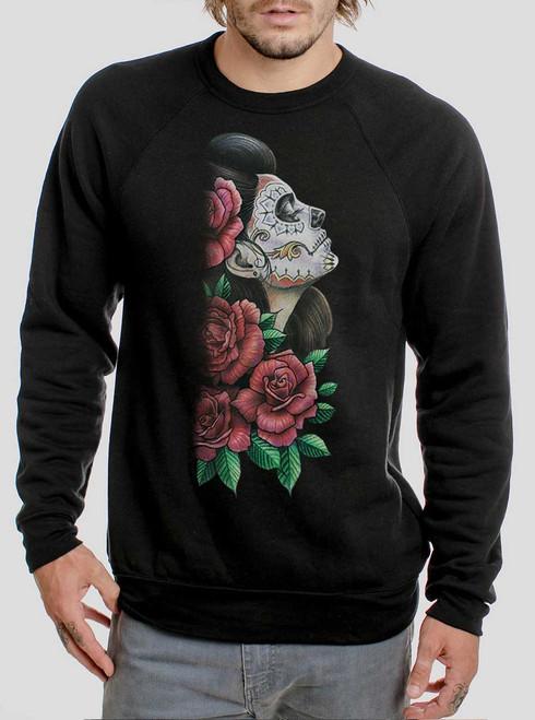 Lady of the Dead - Multicolor on Black Men's Sweatshirt