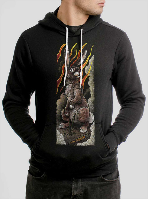 Rabbit - Multicolor on Black Men's Pullover Hoodie