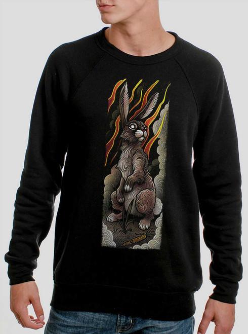 Rabbit - Multicolor on Black Men's Sweatshirt