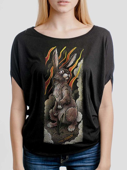 Rabbit - Multicolor on Black Women's Circle Top