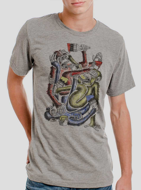 Know Evil - Multicolor on Heather Grey Triblend Mens T Shirt