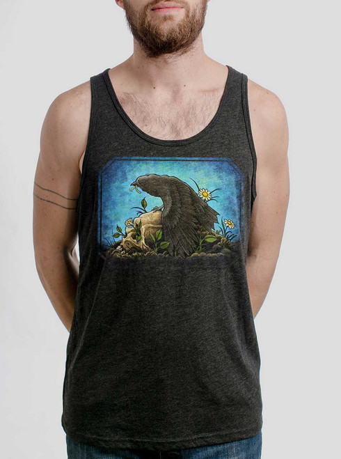 33f557c0cebe2f Crow - Multicolor on Heather Black Triblend Mens Tank Top