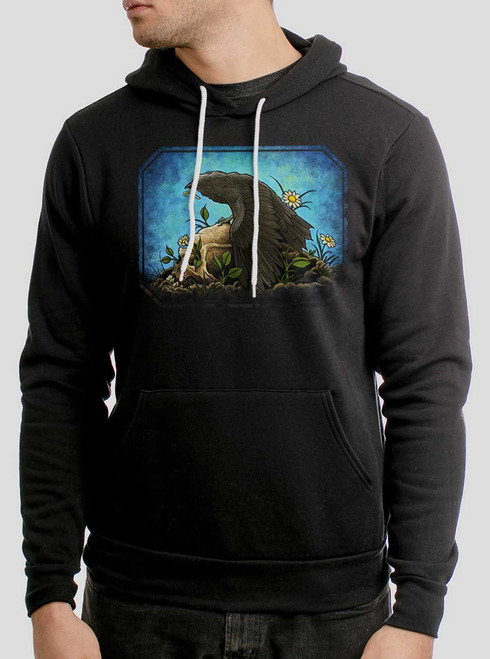 Crow  - Multicolor on Black Men's Pullover Hoodie