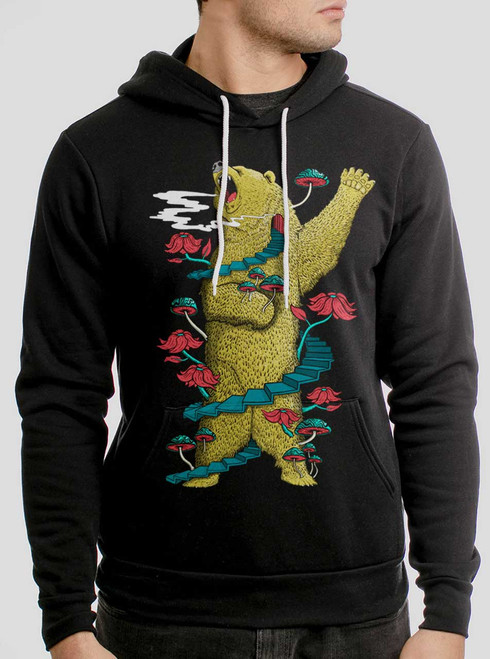 Big Bear  - Multicolor on Black Men's Pullover Hoodie