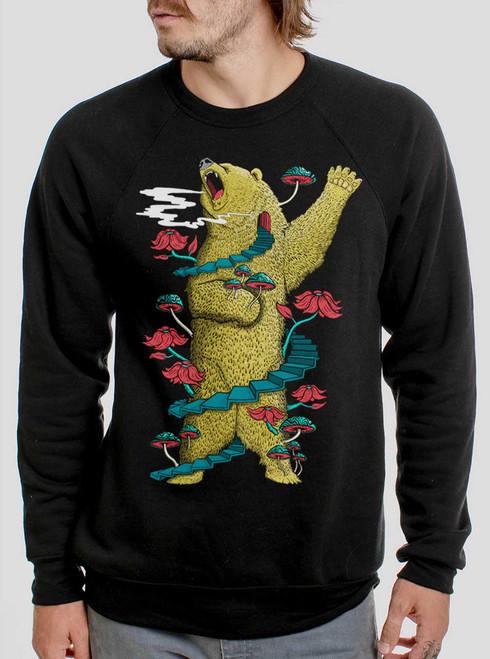 Big Bear - Multicolor on Black Men's Sweatshirt