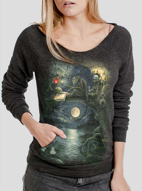 Ponder - Multicolor on Charcoal Triblend Women's Maniac Sweatshirt