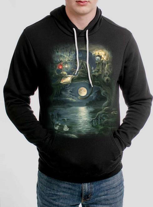 Ponder - Multicolor on Black Men's Pullover Hoodie