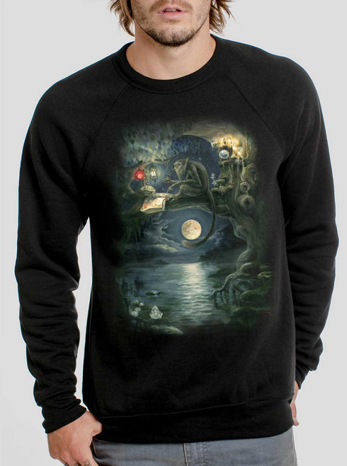 Ponder - Multicolor on Black Men's Sweatshirt