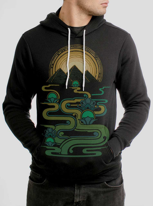 Pyramids  - Multicolor on Black Men's Pullover Hoodie