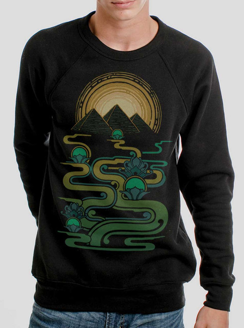 Pyramids - Multicolor on Black Men's Sweatshirt